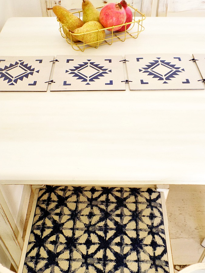 Boho wooden table runner diy