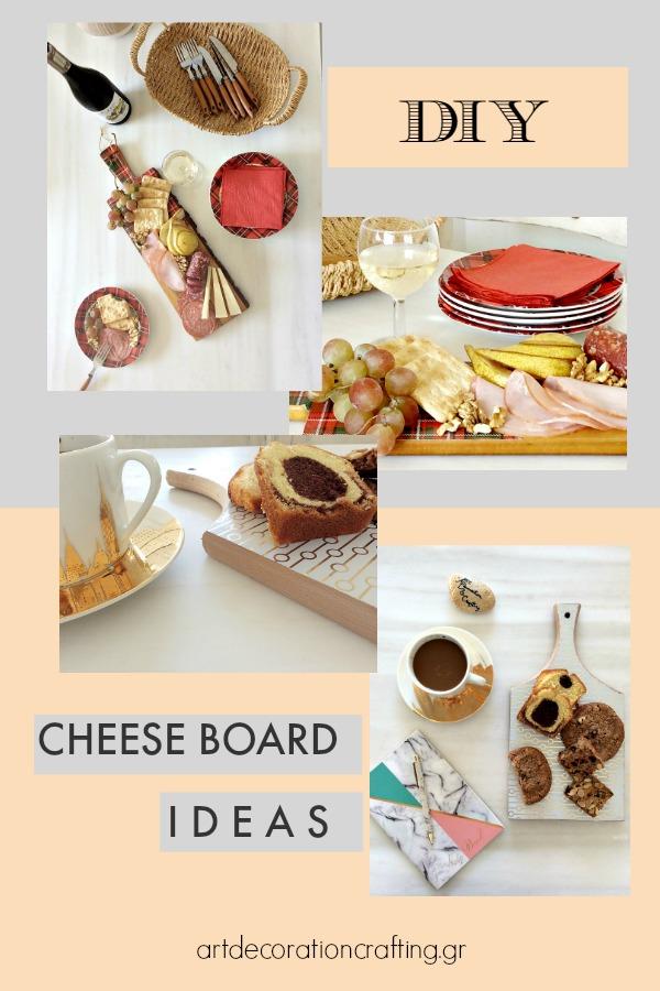 Art Decoration Crafting | Cheese board ideas diy | Πλατώ σερβιρίσματος από ξύλα κοπής