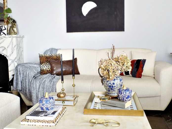 Chinoiserie style διακοσμητικές κολοκύθες, φθινοπωρινό ντεκόρ