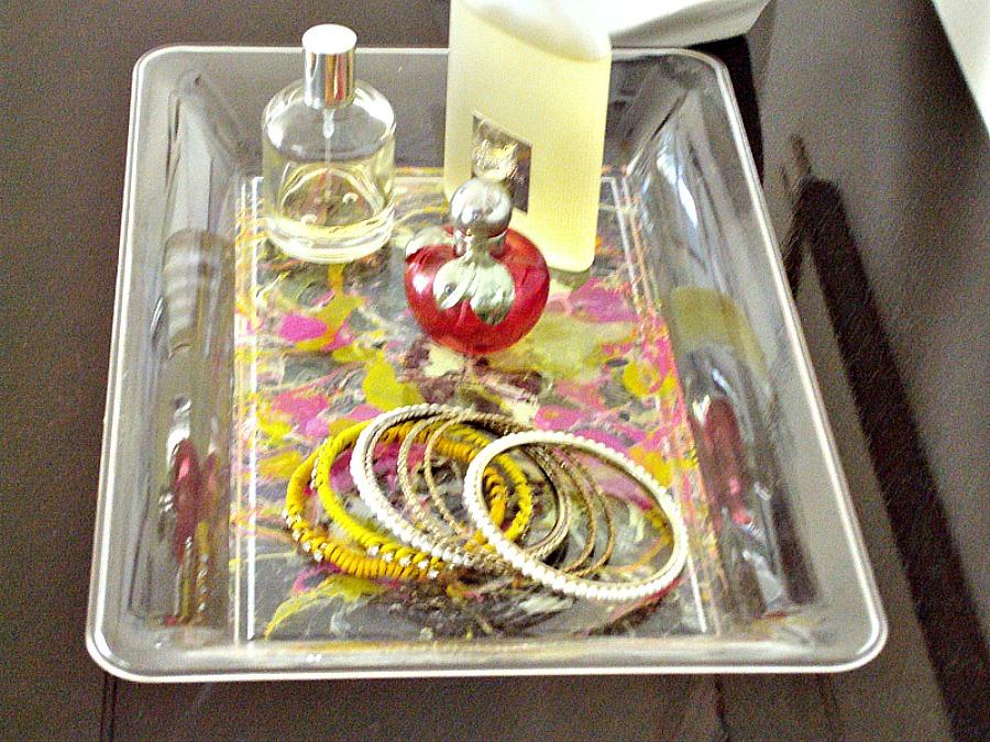 Διακοσμητικοί δίσκοι, τεχνική marble με βερνίκια νυχιών