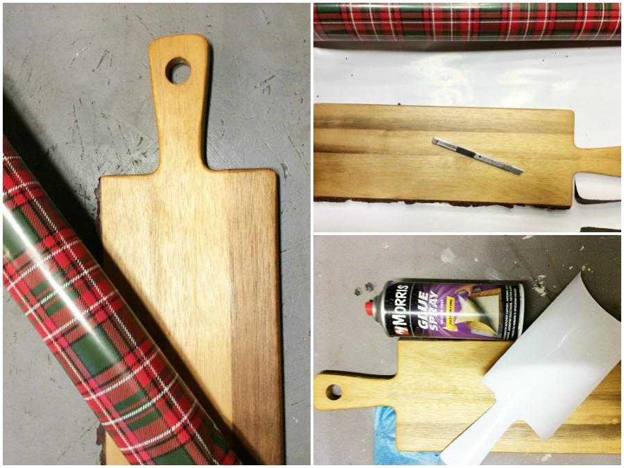 Πως να φτιάξεις απο ξύλο κοπής πλατώ σερβιρίσματος με χαρτί περιτυλίγματος