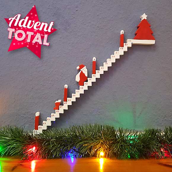 Staircase advent calendar