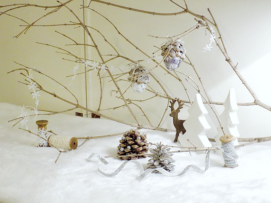 Winter snowy christmas scene