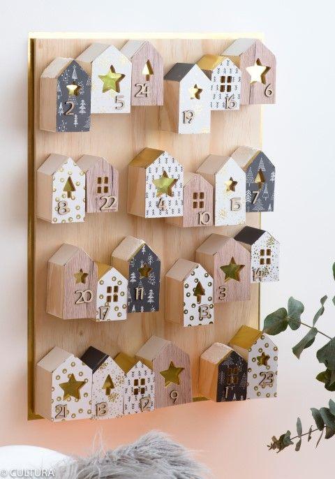 12 ιδέες για υπέροχα ημερολόγια αντίστροφης μέτρησης, wooden houses advent calendar