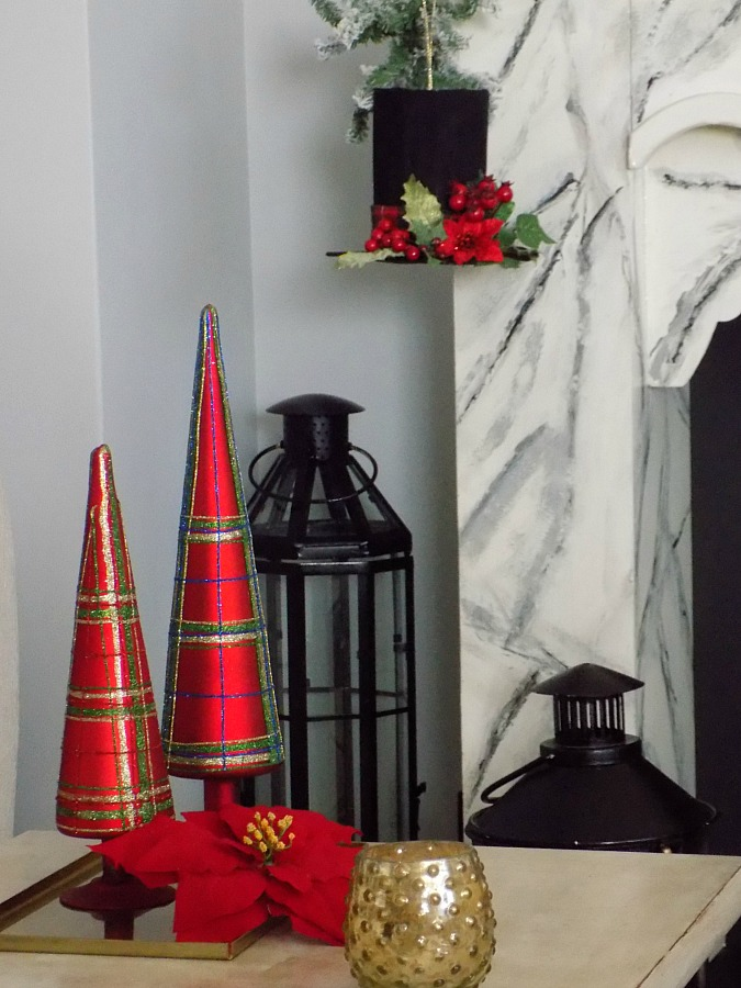 Black top hat with christmas decor