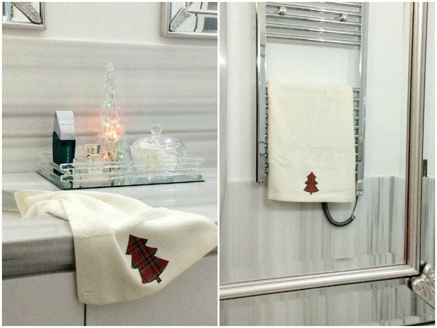 Christmas 2019 in the master bathroom, christmas towels