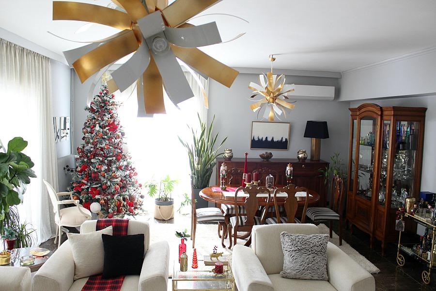 Christmas 2019 dining room | Χριστούγεννα 2019, διακόσμηση σαλονιού και τραπεζαρίας