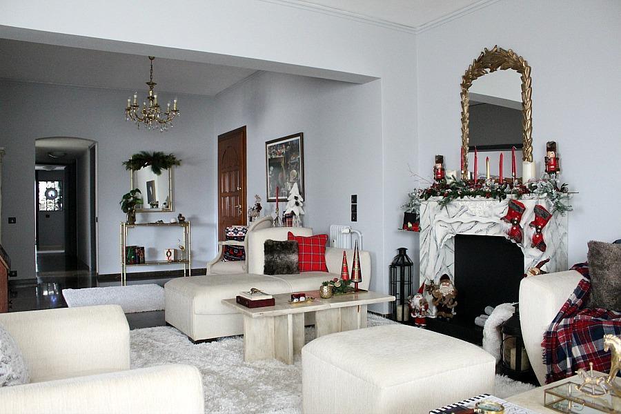 Κόκκινα Χριστούγεννα 2019 στο σαλόνι | Christmas living room 2019