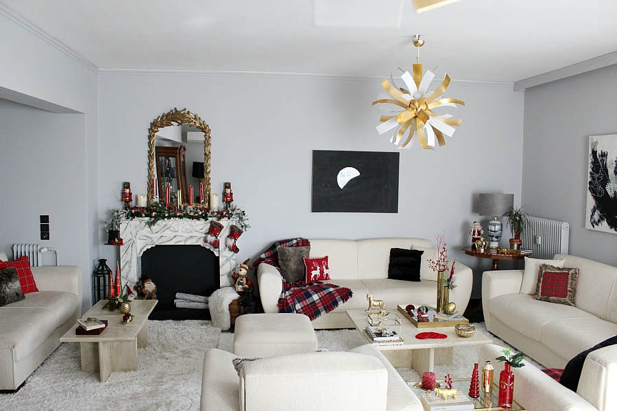 Christmas 2019 living room decor | Κόκκινα Χριστούγεννα 2019, διακόσμηση σαλονιού