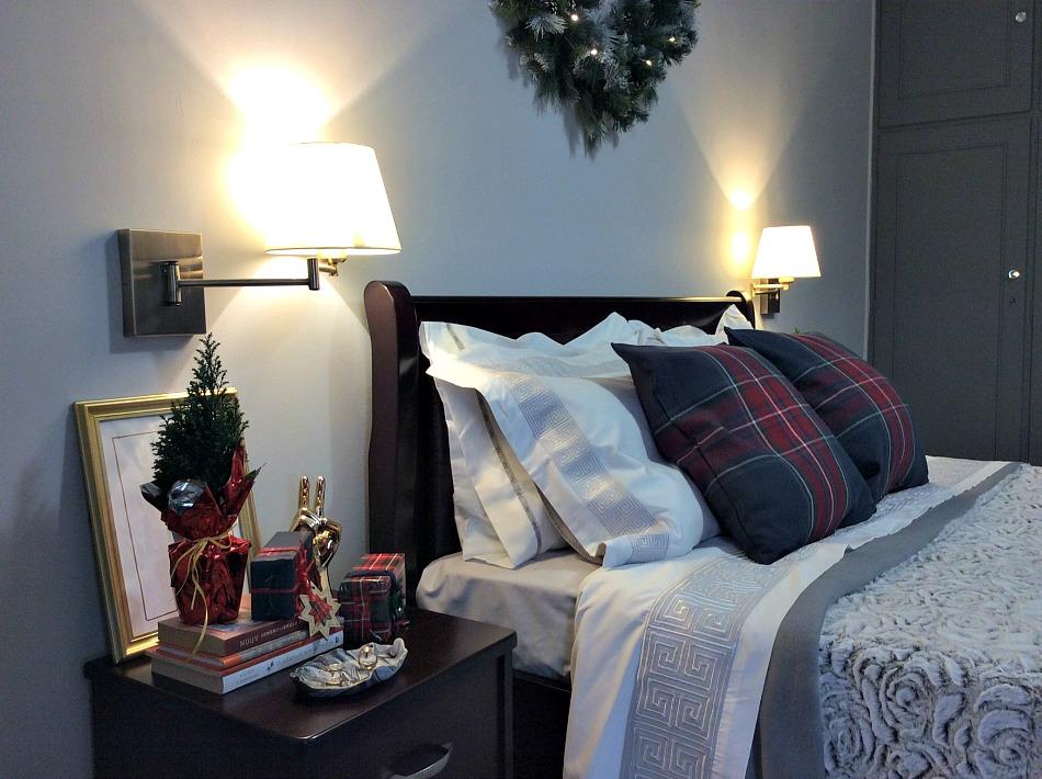 xxl στεφάνι diy, Χριστουγεννιάτικη διακόσμηση στην κρεβατοκάμαρα