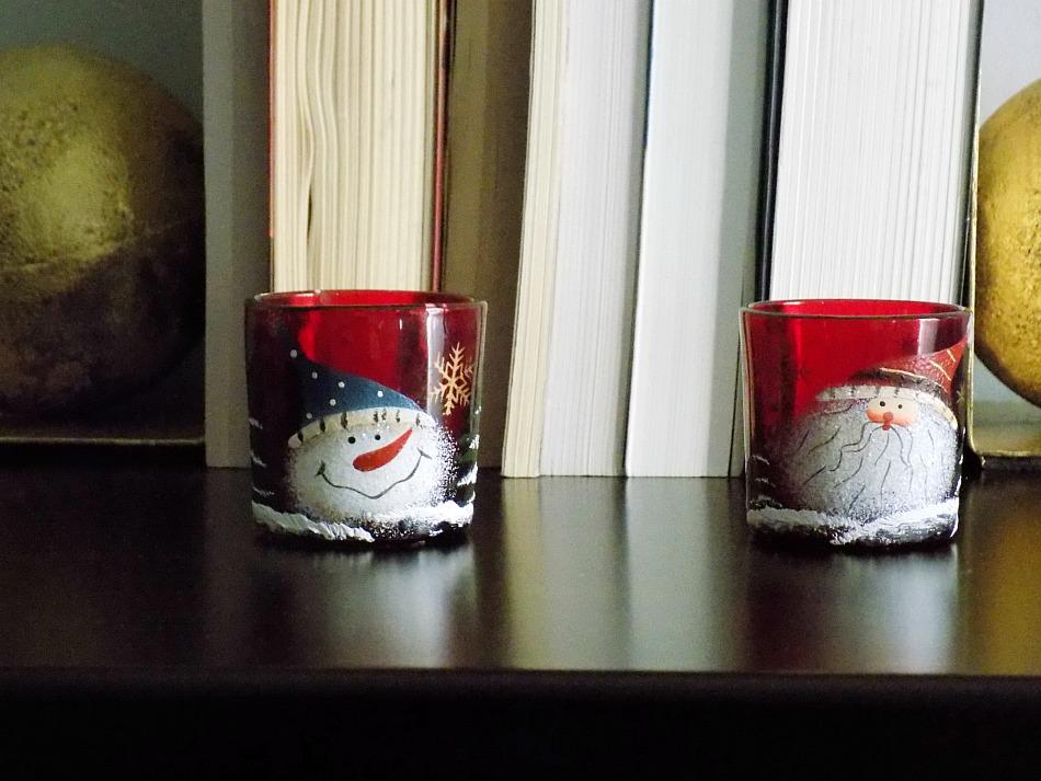 Christmas votives, master bedroom decor