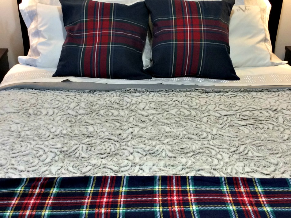 Flannel throw, flannel Ikea pillow covers