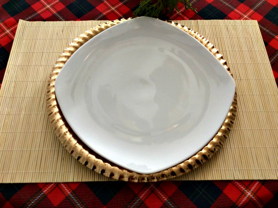 How to lay the perfect New Year's Eve table, red plaid tablecloth