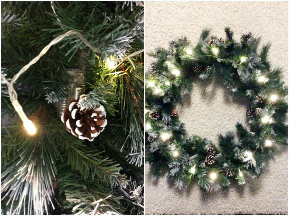 XXL στεφάνι για τα Χριστούγεννα με φώτα led | Led lights on giant christmas wreath