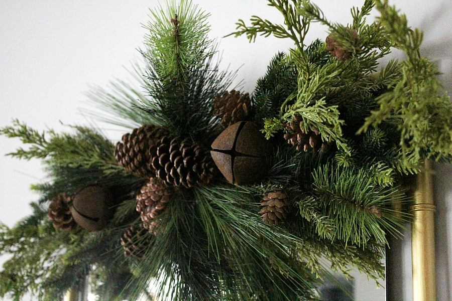 Pine christmas garland
