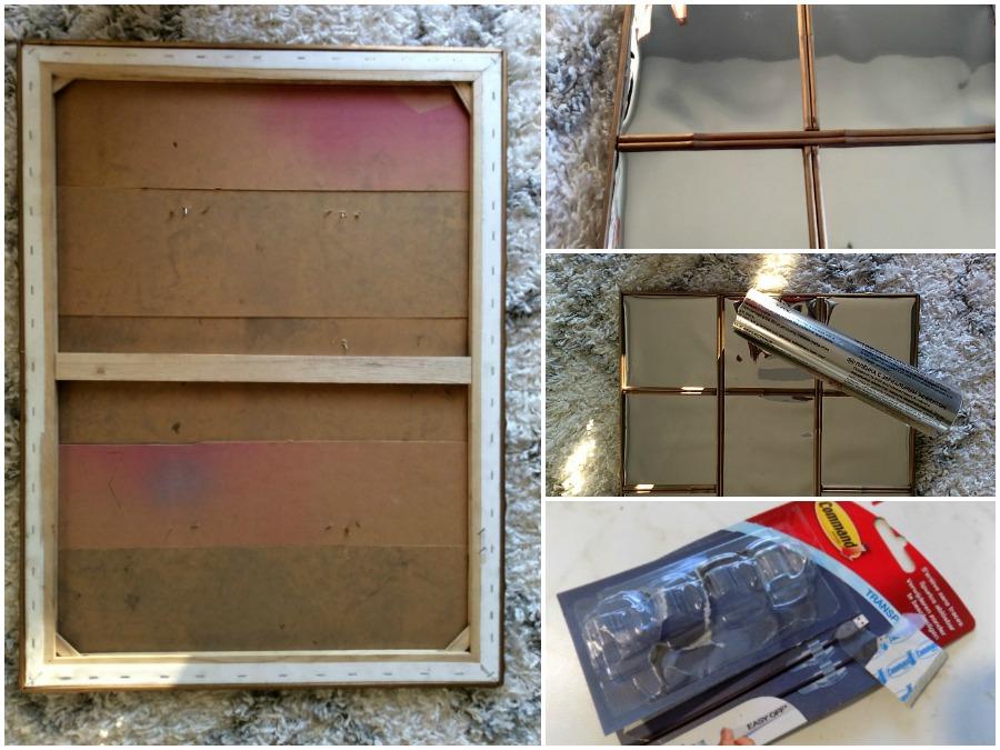 Πως να φτιάξεις διακοσμητικό καθρέφτη πάνω σε καμβά ζωγραφικής