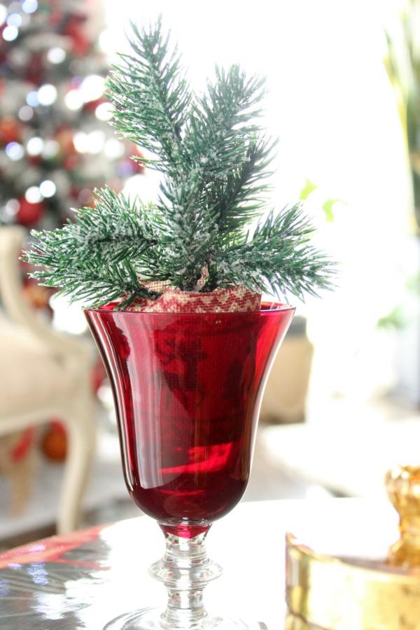 Red Christmas decor