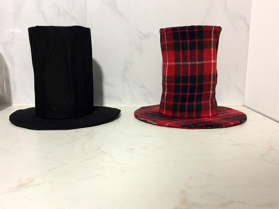 Μαύρο και κόκκινο καρώ ημίψηλο καπέλο