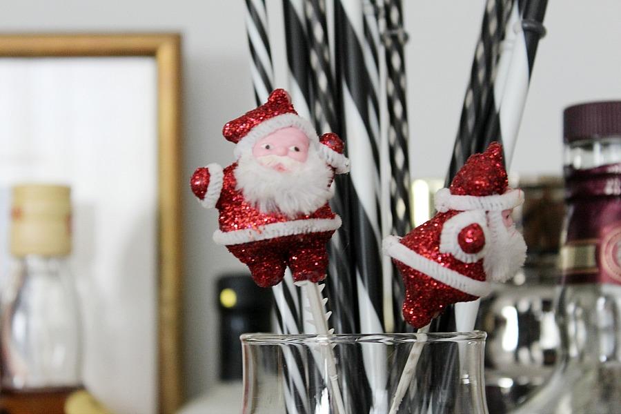 Trolley bar christmas decorations