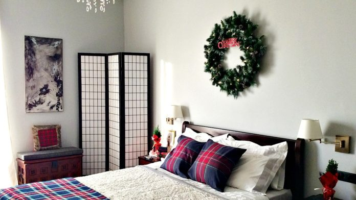 XXL στεφάνι, Χριστούγεννα 2019 στην κρεβατοκάμαρα