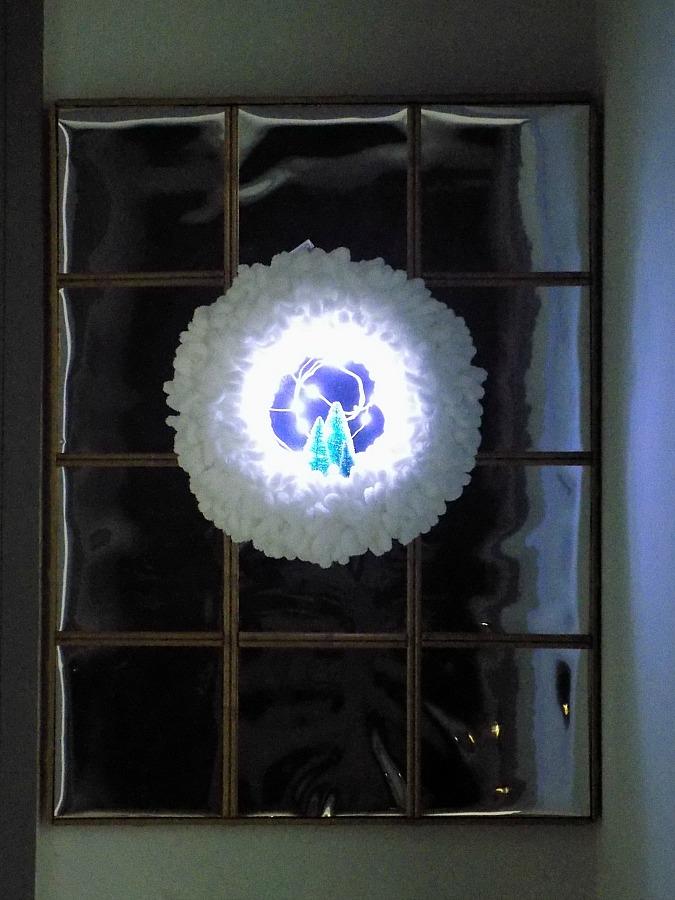Yarn loop christmas wreath diy