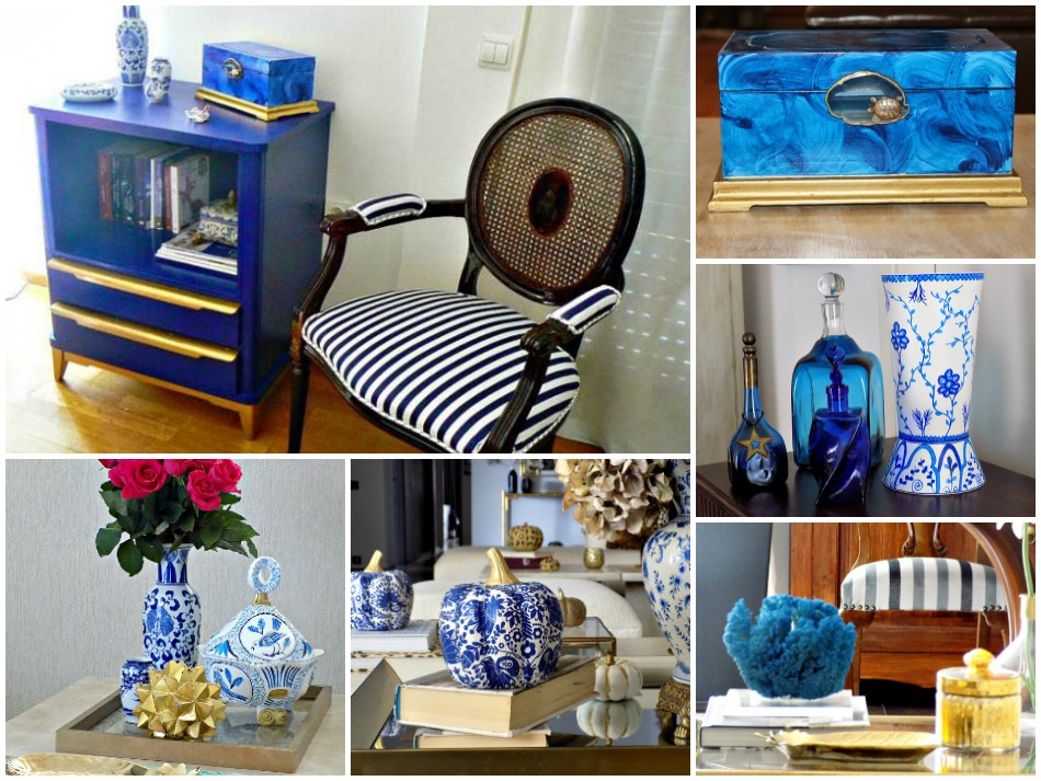 Pantone 2020. Classic blue decor items diy