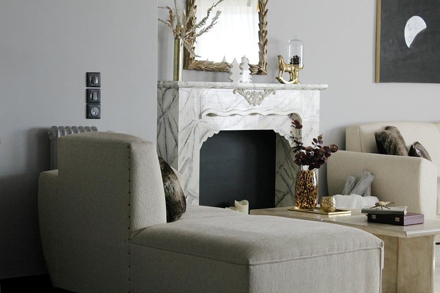 Εννέα tips για την μετάβαση από την γιορτινή διακόσμηση στη χειμωνιάτικη | Faux marble fireplace diy