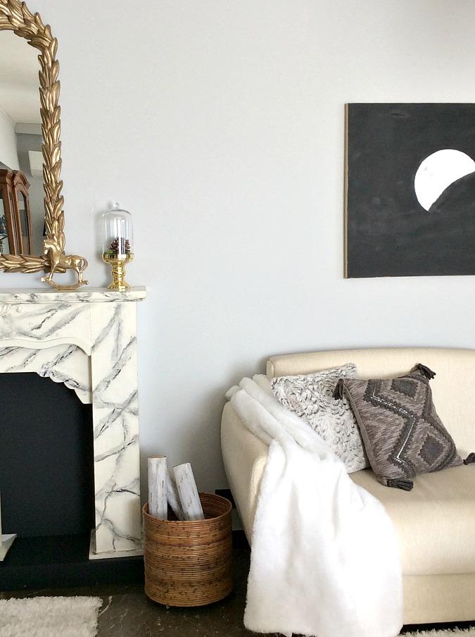 Fireplace, fire wood basket holder