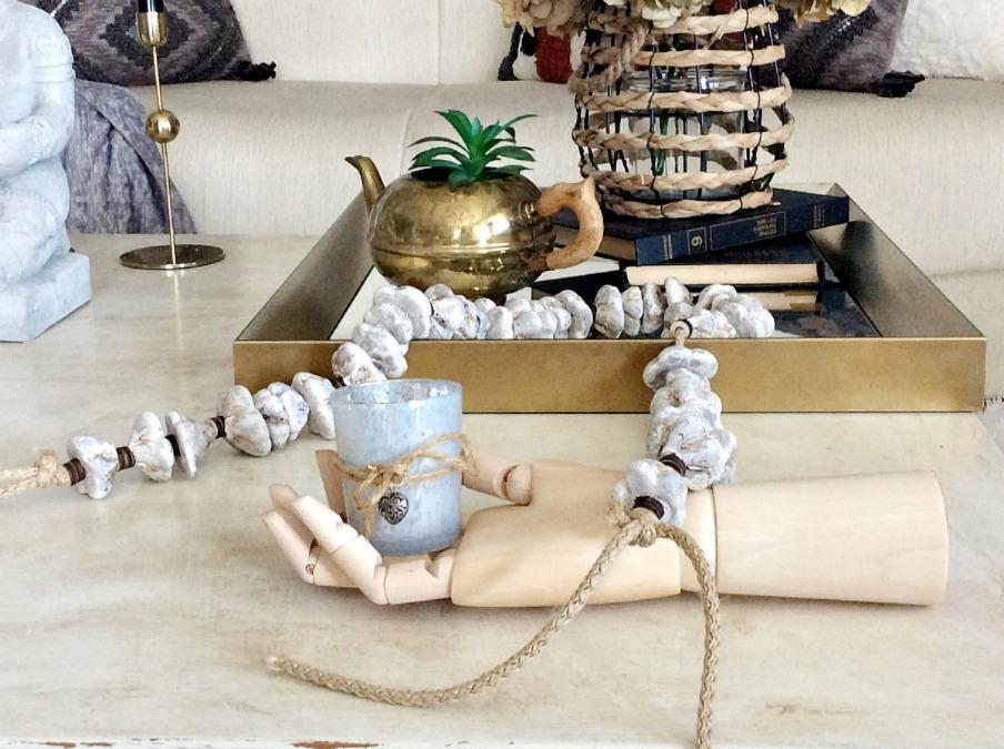 How to make a stone garland   Πέτρινη διακοσμητική γιρλάντα