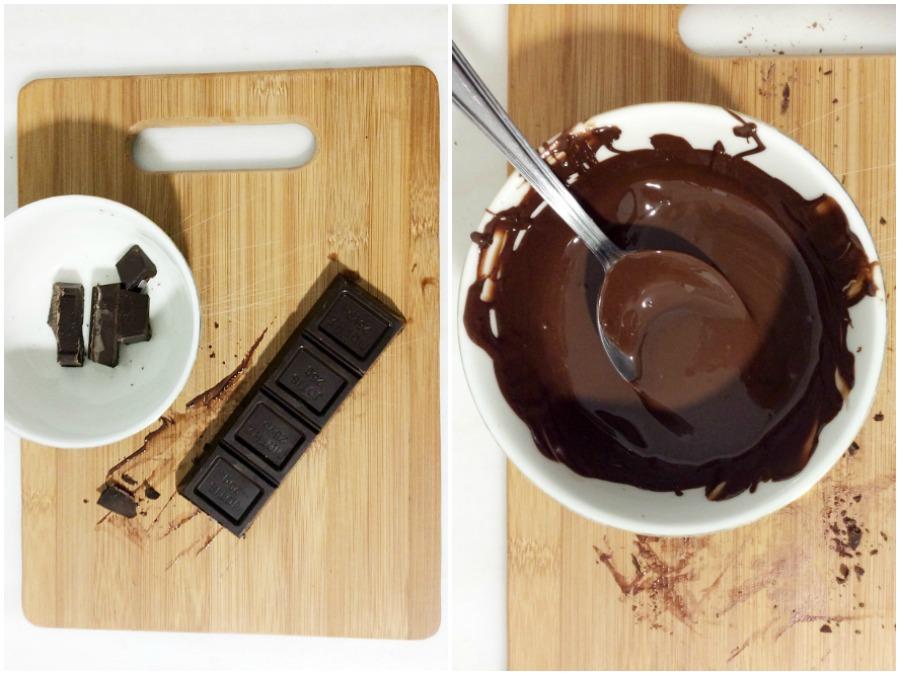Μείγμα λιωμένης σοκολάτας