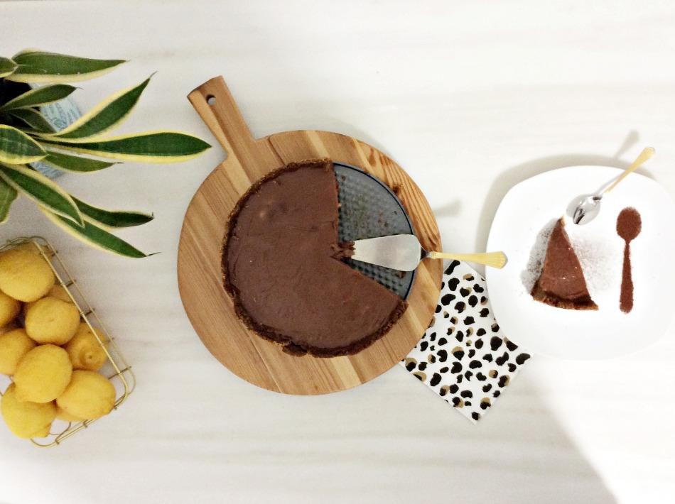 Cheesecake σοκολάτας με σκόνη κακάο