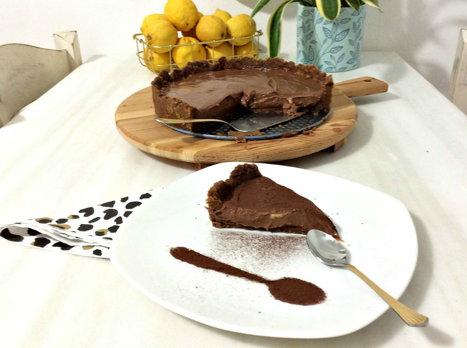 Cheesecake σοκολάτας με σκόνη κακάο, χωρίς ψήσιμο