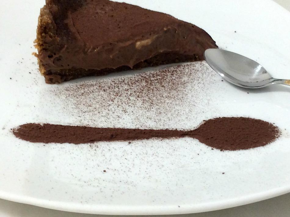 Τσιζκέικ σοκολάτας με σκόνη κακάο