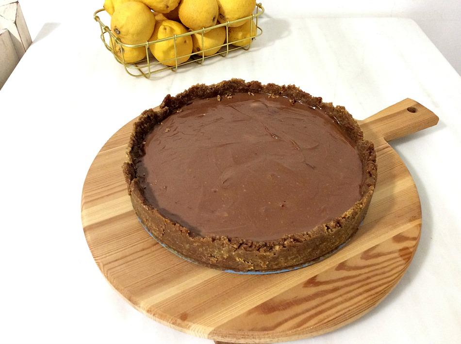 Σοκολατένιο cheesecake με τυρένια κρέμα σοκολάτας