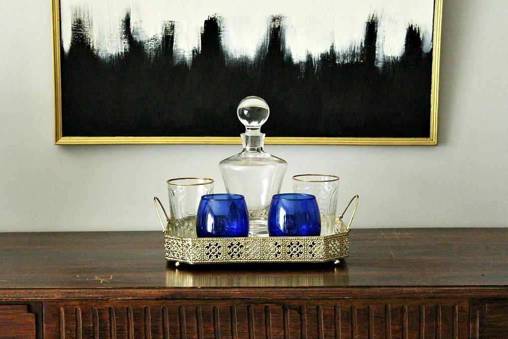 Χρυσός δίσκος Zara Home με ποτήρια