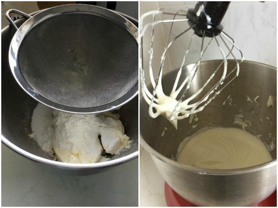 Κρέμα τυριού με ζάχαρη άχνη