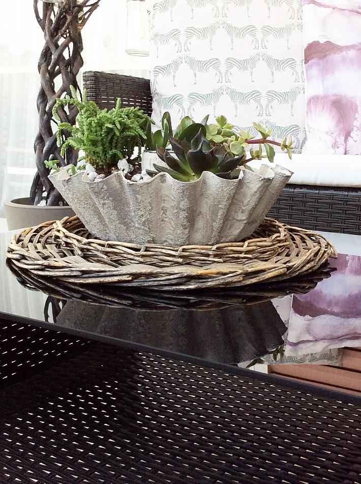 DIY κασπό αχιβάδα για παχύφυτα, διακόσμηση βεράντας