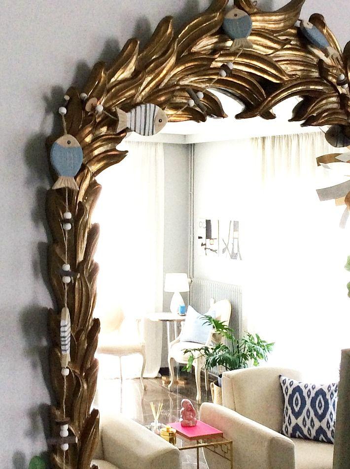 Διακοσμητική γιρλάντα, χρυσός καθρέφτης