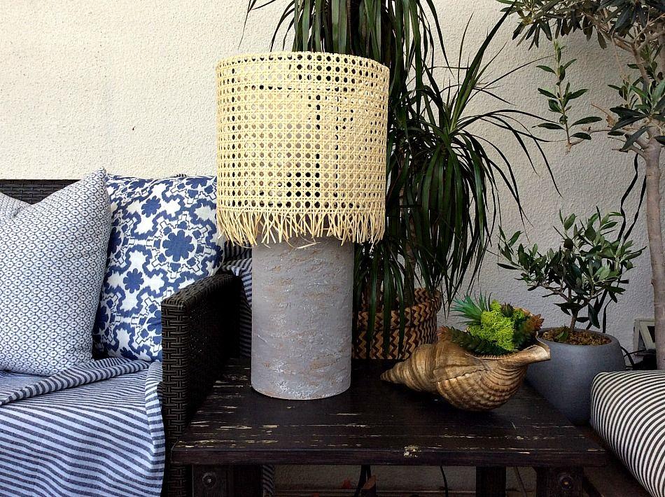 DIY επιτραπέζια λάμπα για την βεράντα, καλοκαιρινή διακόσμηση