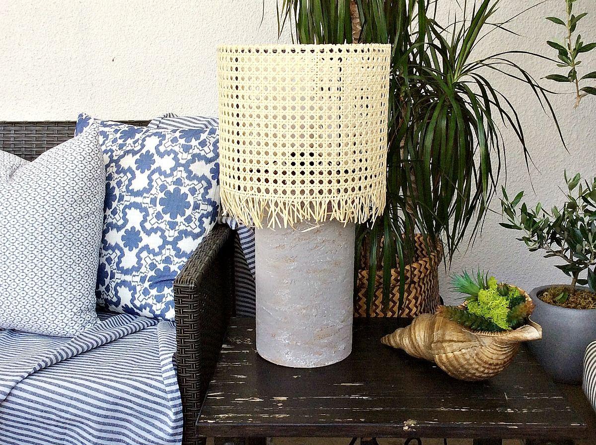 DIY επιτραπέζια λάμπα για την βεράντα