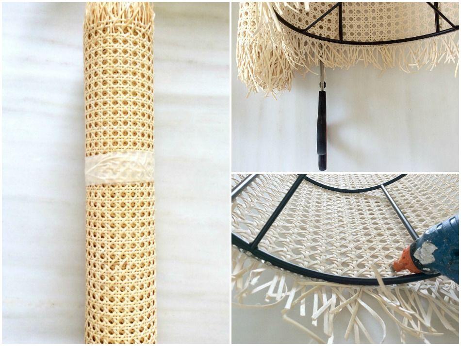 Κατασκευή καπέλου λάμπας από βιεννέζικη ψάθα