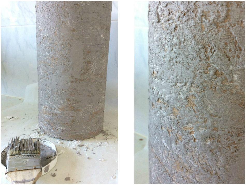 Πως να δημιουργήσεις εφέ πέτρας πάνω σε χαρτόνι με στόκο και χρώμα