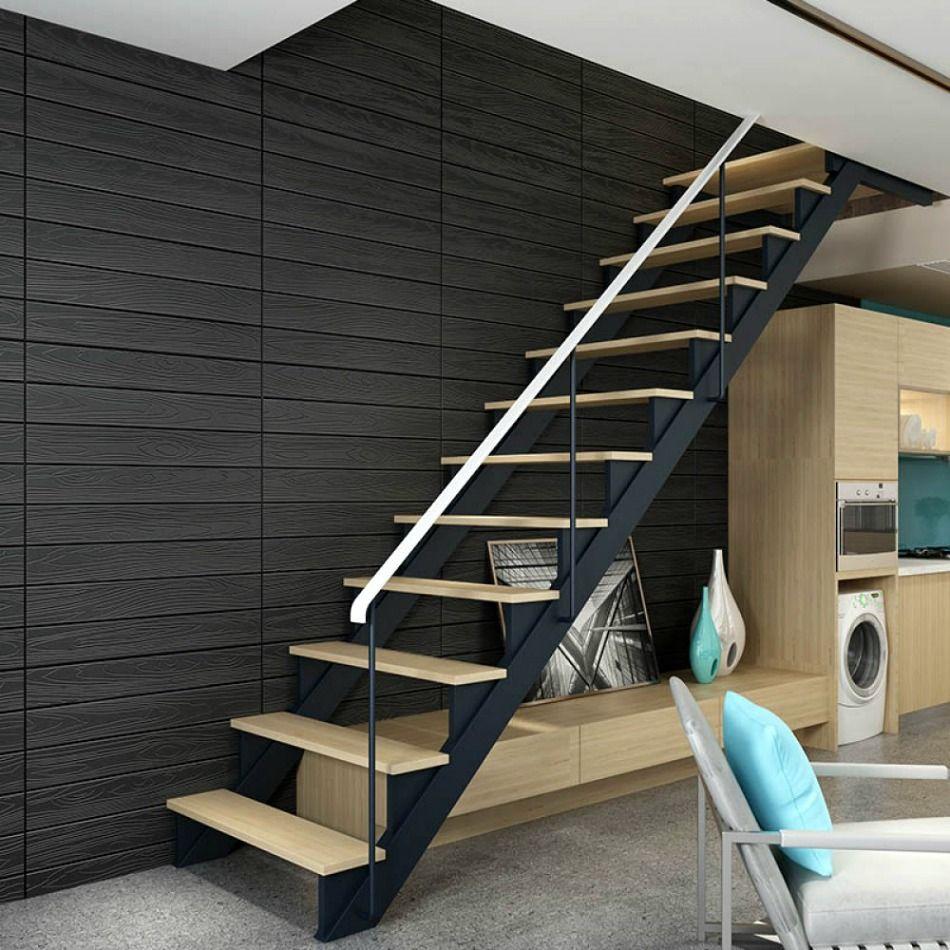 3D Αυτοκόλλητο πάνελ τοίχου ξύλο μαύρο, Saray Home