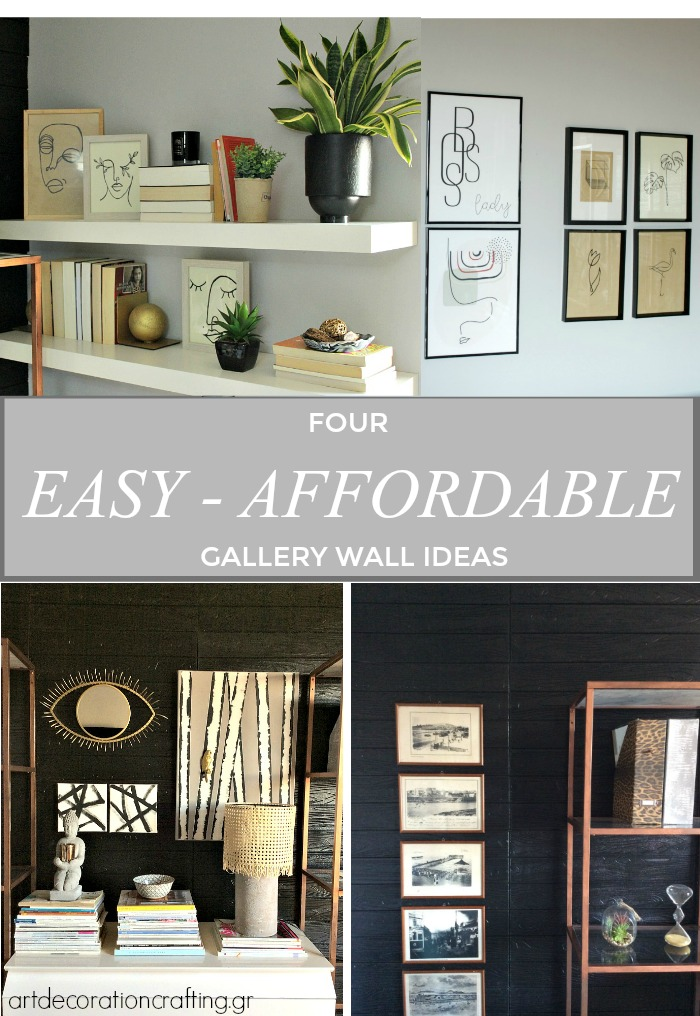 Four easy affordable gallery wall ideas | How to set up a wallery wall without effort