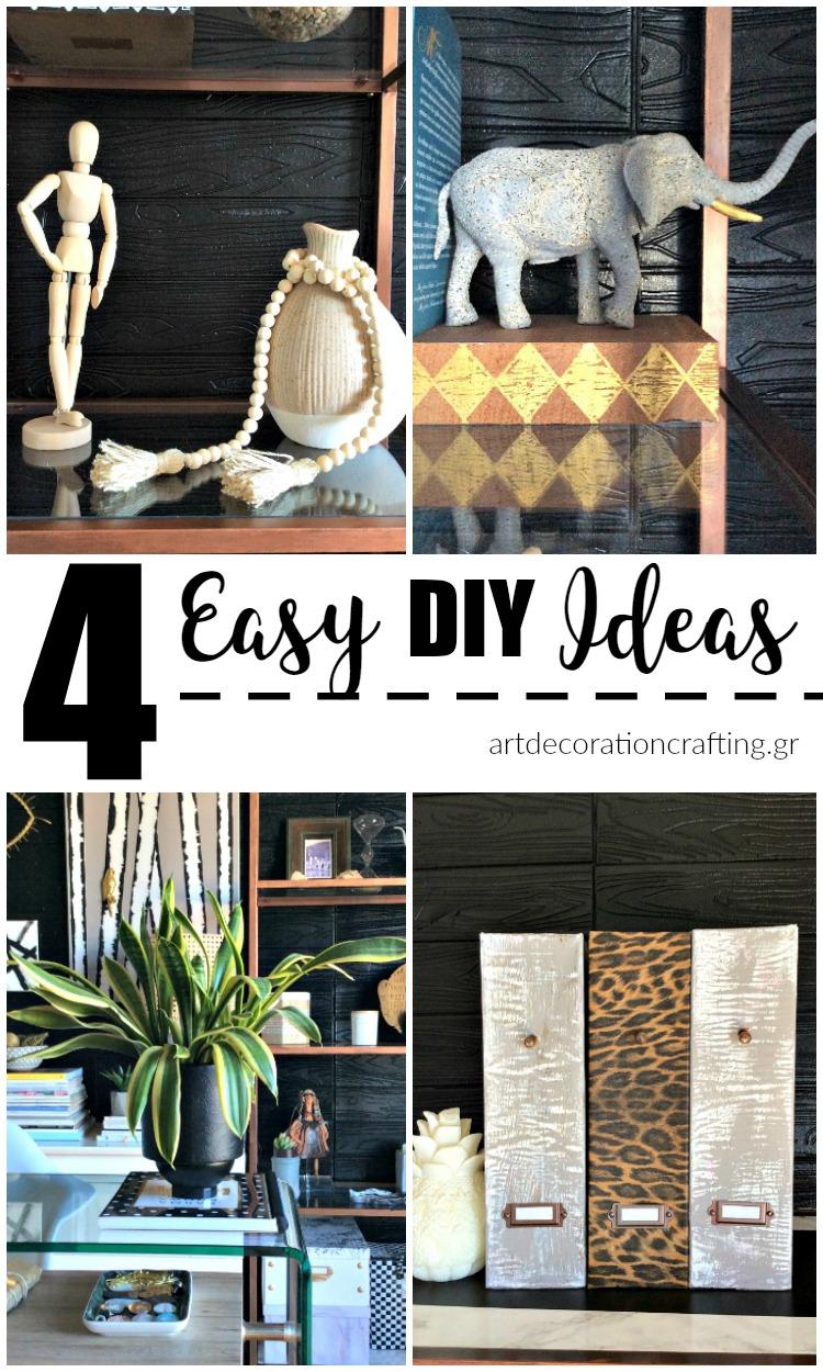4 εύκολα diy με λίγα υλικά   4 easy diy ideas