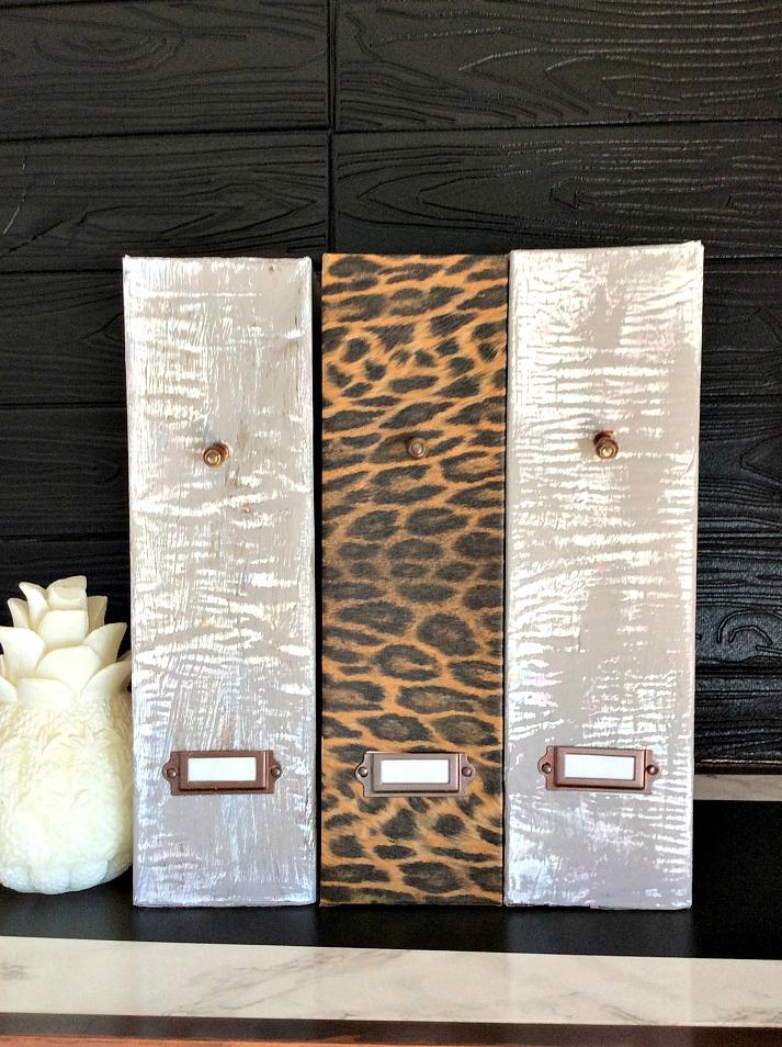 Φάκελοι εγγράφων με εφέ τσιμέντου, leopard print φάκελος εγγράφων