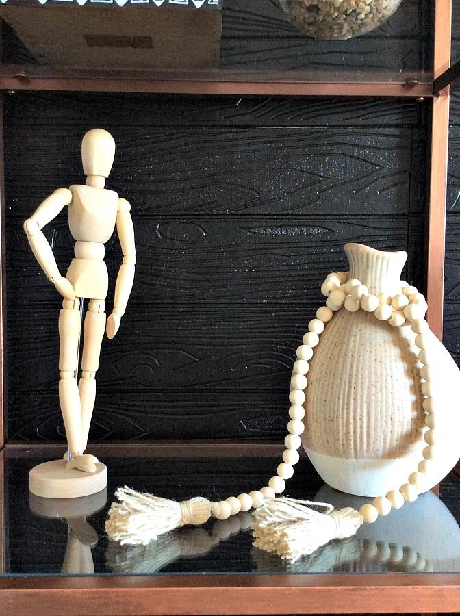 4 εύκολα diy με λίγα υλικά, ξύλινη γιρλάντα, ξύλινο μανεκέν
