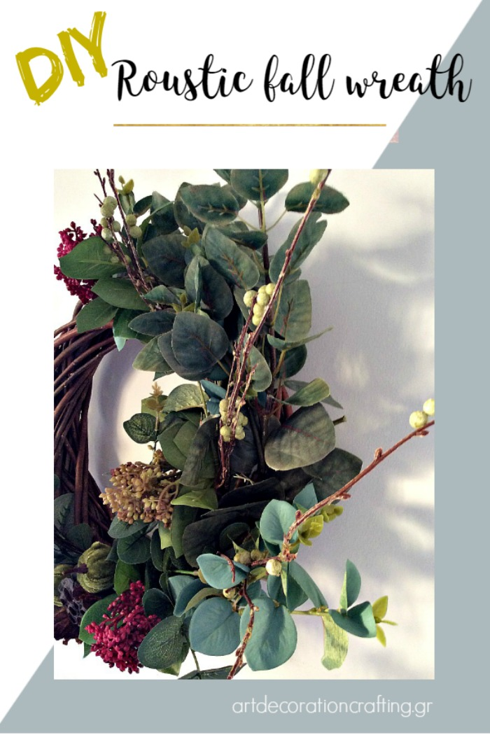 How to make a roustic fall wreath