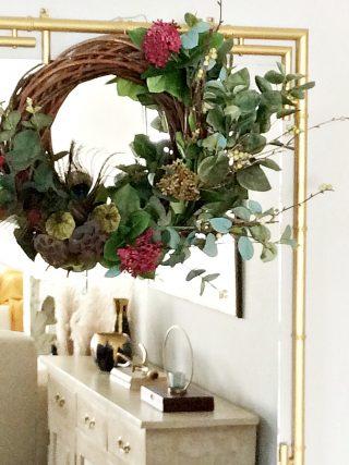 DIY roustic φθινοπωρινό στεφάνι