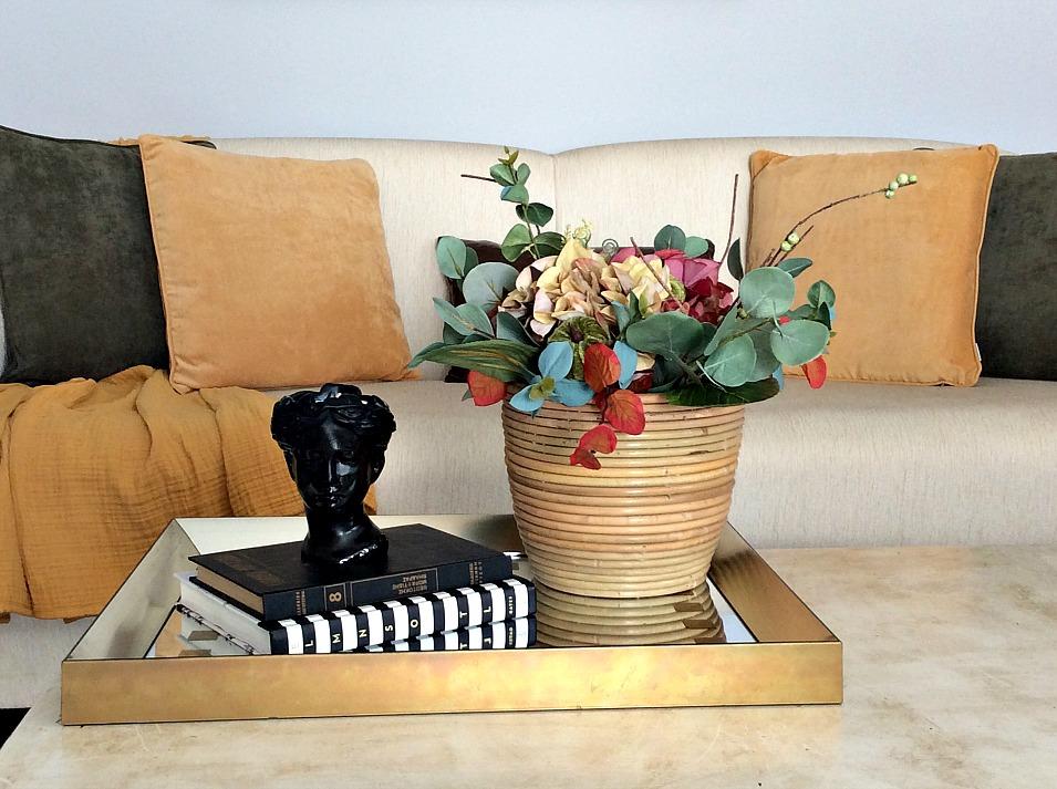 Diy φθινοπωρινή σύνθεση λουλουδιών, κερί σε προτομή